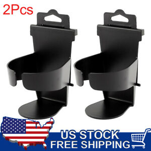 2pcs Car Suv Beverage Bottle Can Drink Cup Holder Plastic Bracket Stand Black