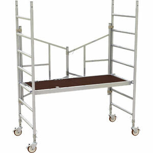 Metaltech 6ft Easy set Aluminum Scaffold Tower 800 lb Capacity Model Al q0100