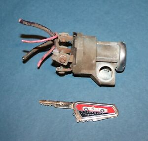 1953 1954 1955 Corvette Ignition Switch And Key Ultra Rare