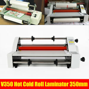 Hot Cold Roll Laminator Laminating Machine Single dual Sided V350 13 110v 350mm