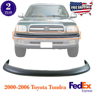 Front Bumper Upper Cover Filler Textured For 2000 2002 Toyota Tundra Truck