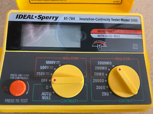Ideal Sperry 61 784 Insulation Continuity Tester Model 3005 New In Open Box