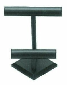 Black Faux Leather 2 Tier T Bar Jewelry Store Counter Display Pawn Shop