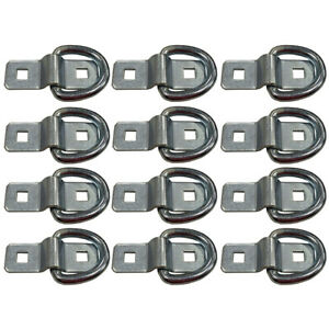 12 3 8 Bolt On D Rings For Rope Chain Strap Cable Tie Downs On Flatbed Trailers