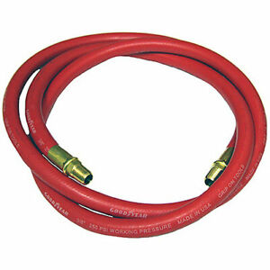 Goodyear Air Hose 10322 6 Whip Hose 1 4 Solid Brass Npt Fittings Weather Oil And
