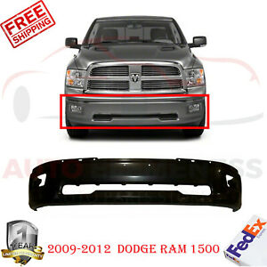 Front Bumper Primed Steel W Fog Light Holes For 2009 2012 Dodge Ram 1500