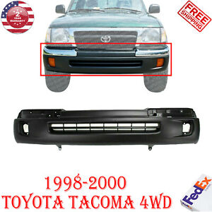 Front Bumper Cover Primed W Fog Light Holes For 1998 2000 Toyota Tacoma