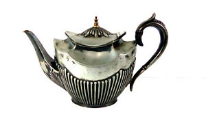 Antique Silver Epbm Teapot No 03508 4 Wmh S Great Condition