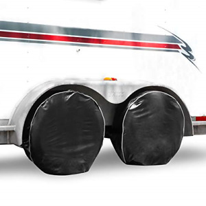 Tire Covers For Trailers Extra Thick Black Uv Blocking Waterproof Heavy Duty