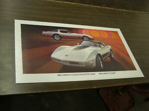 Oem 1982 Chevrolet Corvette Coupe Dealership Display Picture Cardboard