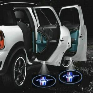 2 X Mustang Car Door Welcome Led Lights Courtesy Projector Ghost Shadow Sticker
