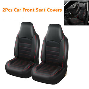 2pcs Auto Front Seat Covers Synthetic Leather Seat Bucket Protector Car styling