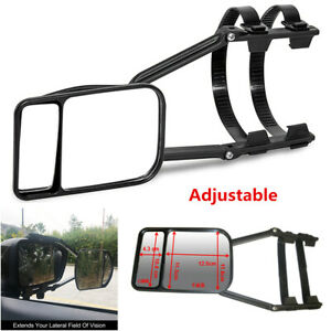 Universal Clip on Towing Mirror For Trailer Safe Hauling Adjustable Extension