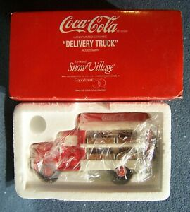 Dept 56 - Coca-Cola Brand Delivery Truck - Original Snow Village Series - 54798