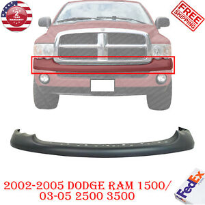 Front Bumper Upper Cover Primed For 2002 2005 Dodge Ram 1500