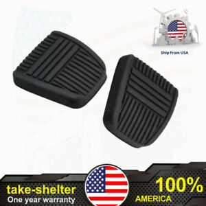 2pc Brake Pedal Pad Antislip Clutch Rubber Cover For Toyota Camry 81 99 Celica