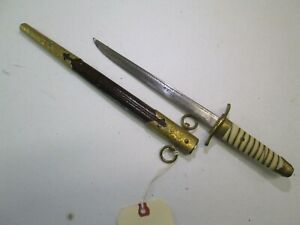 Wwii Japanese Samurai Navy Officers Tanto Sword With Scabbard S15