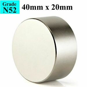 Block N52 Large Neodymium Rare Earth Magnet Big Super Strong Huge 40mm 20mm