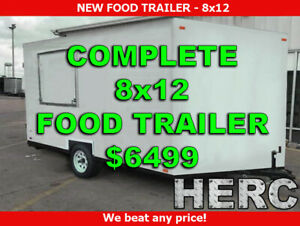 New 8x12 Food Trailer Concession Trailer Food Trucks Mobile Food Trailer