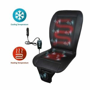 Zone Tech Car Heating Cooling Seat Chair Cushion 2 In 1 Adjustable Temperature