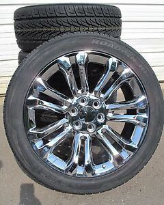 22 New Chevrolet Tahoe Silverado Suburban Chrome Rims 3054022 Nexen Tires 5666
