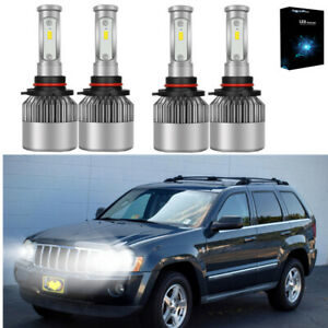 Super White 9005 9006 Led Headlight Bulb Combo For Jeep Grand Cherokee 2001 2010