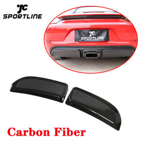 For Porsche 718 Boxster Cayman 19up Rear Bumper Diffuser Splitters Carbon Fiber