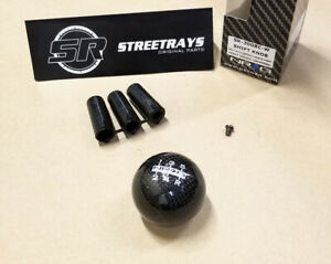 Nrg Shift Knob Ball Style Black Carbon Fiber heavy Weight Universal 5 speed