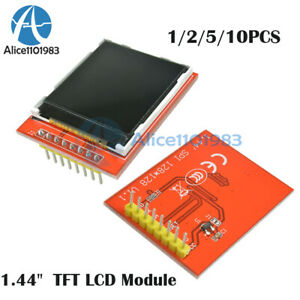 1 5 10pcs 1 44 Red 128x128 Spi Color Tft Lcd Module Display Replace Nokia 5110