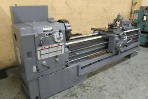 Used 17 x80 Edelstaal Gap Bed Lathe W Taper Attachment