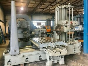 4 Spdl 60 X Giddings Lewis 340 t Horizontal Boring Mill Facing Head Tailsto