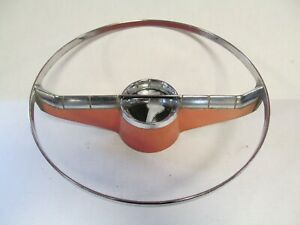 1956 Oldsmobile 88 98 Deluxe Starfire Super Used Steering Wheel Horn Ring