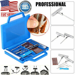 11pcs Tire Repair Kit Diy Flat Car Truck Motorcycle Plug Patch Heavy Duty Pro