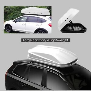 Rooftop Cargo Box Waterproof Heavy Duty Roof Carrier Box White 47 24 11 Inch