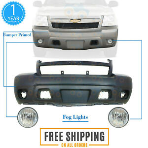 Front Bumper Primed Fog Light For 2007 2014 Chevrolet Avalanche Suburban Tahoe