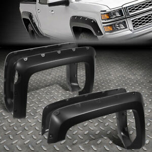 For 14 19 Chevy Silverado 1500 5 8 Bed 4pcs Pocket riveted Wheel Fender Flares