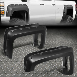 For 14 18 Chevy Silverado 2500hd 3500hd 4pcs Pocket Riveted Wheel Fender Flares