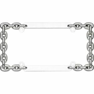 Cruiser Accessories Chain Chrome License Plate Frame 20530 New Free Shipping