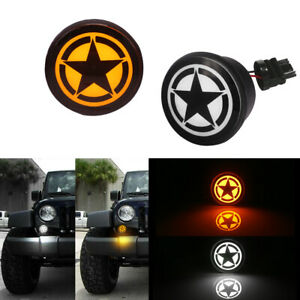 2pcs Dual Color Led Turn Signal drl Light Lamps For 2007 2017 Jeep Wrangler Jk
