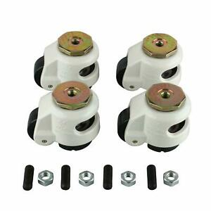 4pack High Wearability Gd 60s Leveling Casters stem Mounted 551lbs per Us