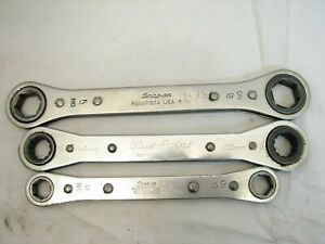 Set 3snap on Double Box End Metric Ratcheting Wrench 12 19mm