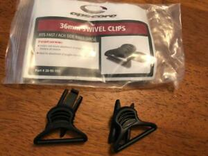 Ops-Core 36mm swivel clips & shoe rail  goggle to rail adapters -black  new