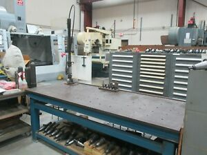 Used Flexarm Pneumatic Tapping Arm 9 16 Capacity 14 Holders On A Bench dp