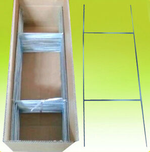 100 Of 10x30 Yard Sign Stakes Holder Corrugated H wire Step Stands Wholesale