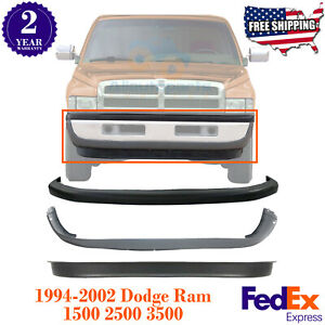 Front Bumper Upper Lower Cover Valance For 1994 2002 Dodge Ram 1500 2500 3500