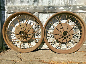 1928 1929 Ford Model A Oem 21 Inch Wheel Rims Pair Solid Used Cores Fomoco 28