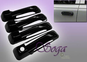 For 2009 2017 Dodge Ram 1500 Overlay Gloss Black Door Handle Cover Covers 8pcs
