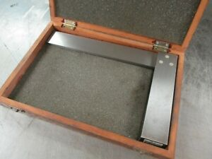 Used 916 405 Mitutoyo 10 Solid Steel Square In Wooden Box dp