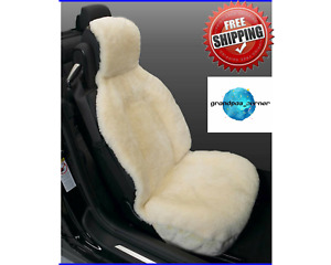 Cream Sideless Sheepskin Seat Cover Super Dense 100 Genuine Australian Merino