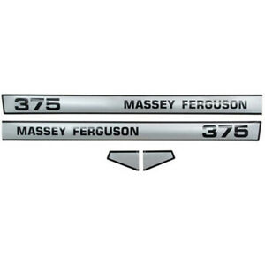 3900321m92 Hood Decal Set Fits Massey Ferguson Mf Tractor 375